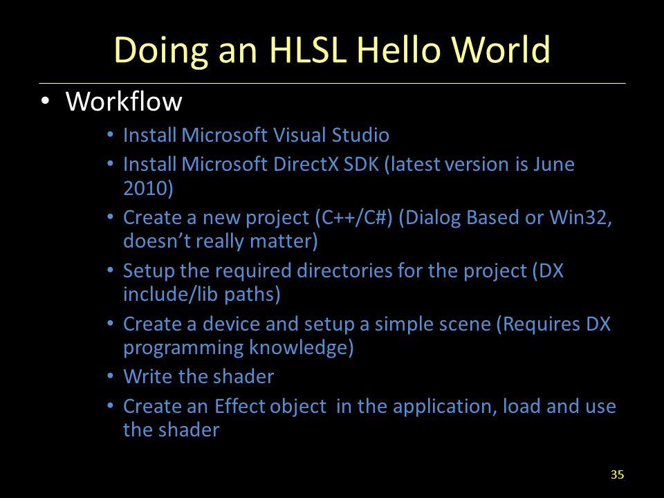 Doing an HLSL Hello World