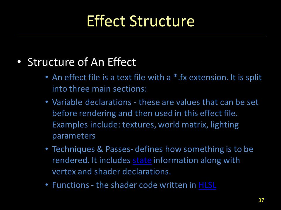 Effect Structure Structure of An Effect