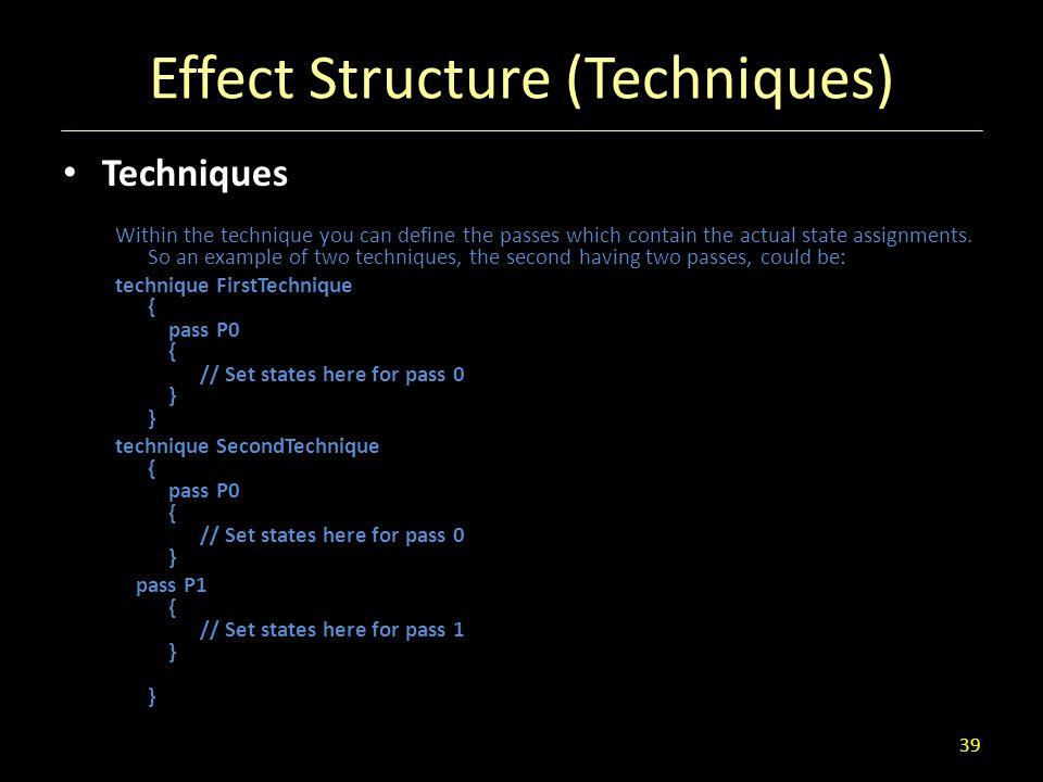Effect Structure (Techniques)
