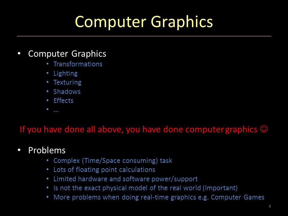 If you have done all above, you have done computer graphics 