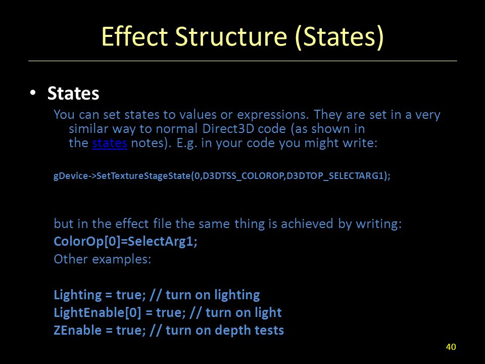 Effect Structure (States)