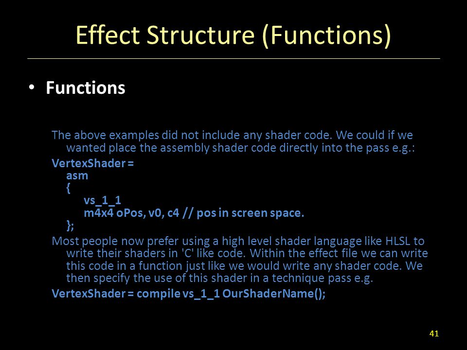 Effect Structure (Functions)