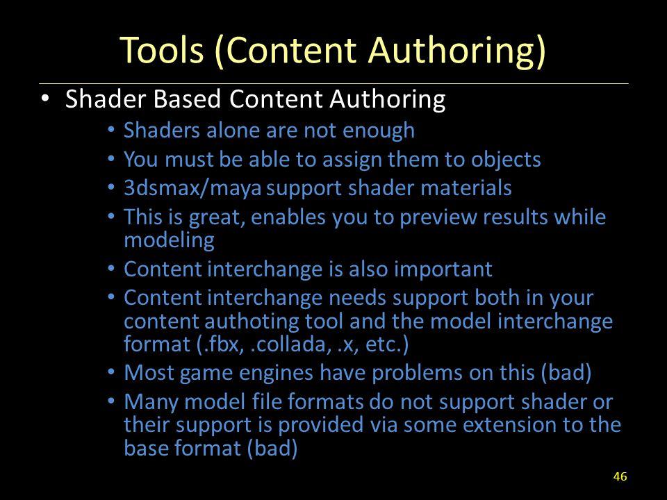 Tools (Content Authoring)