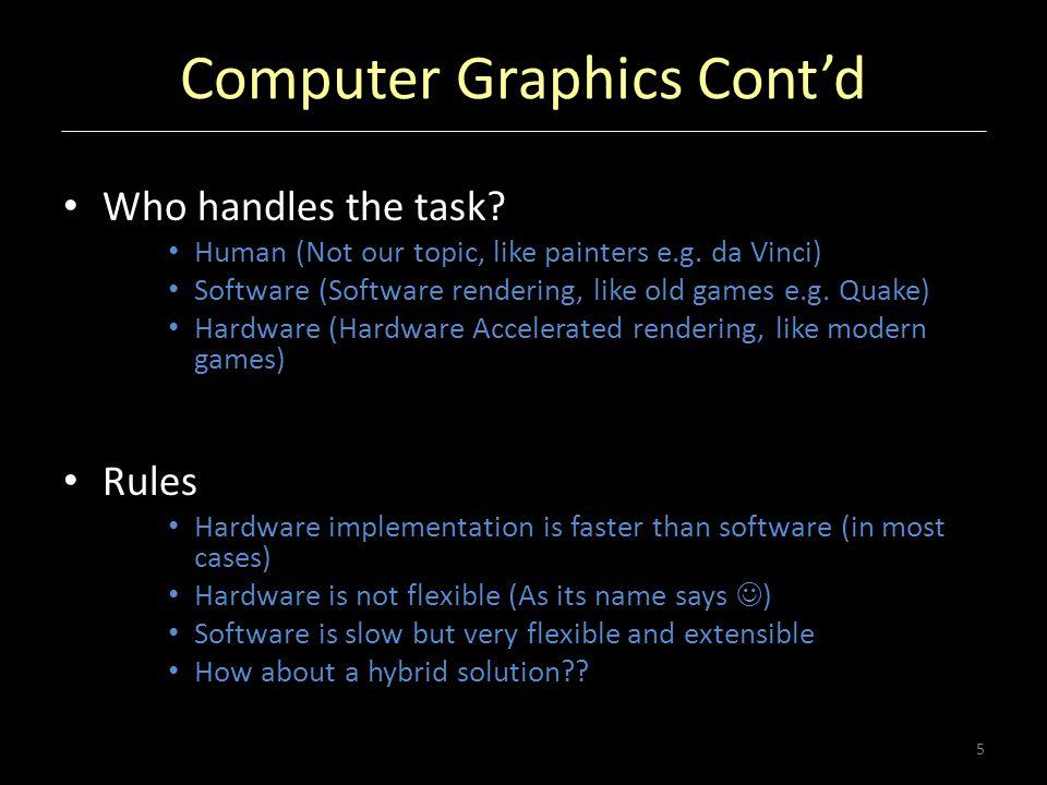 Computer Graphics Cont'd
