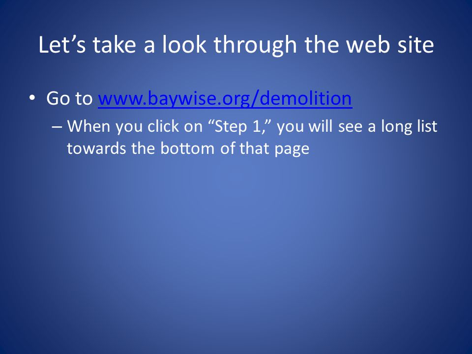 Let's take a look through the web site