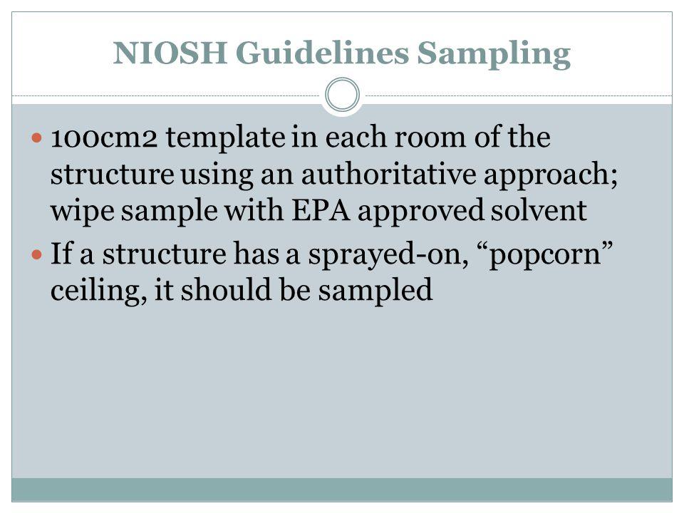 NIOSH Guidelines Sampling