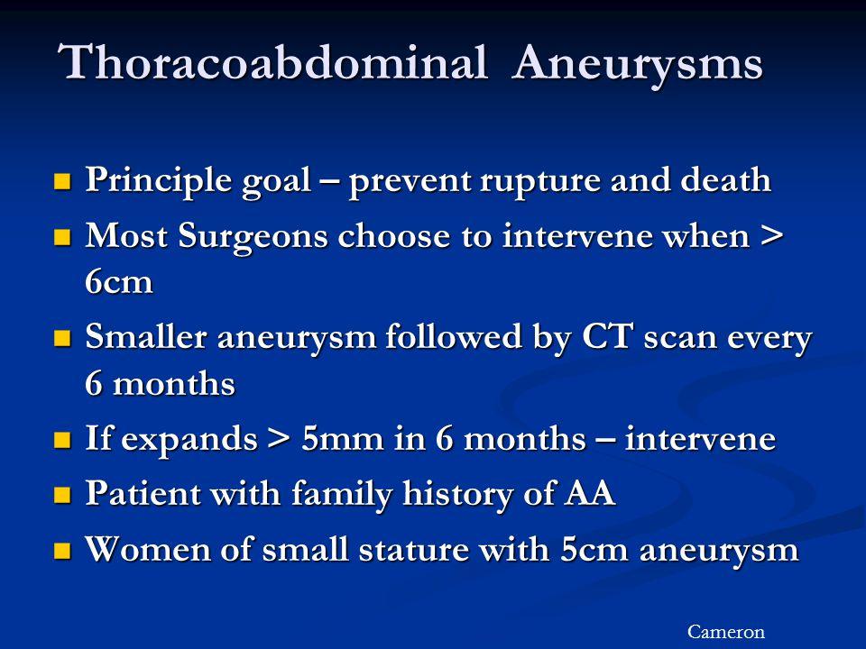 Thoracoabdominal Aneurysms