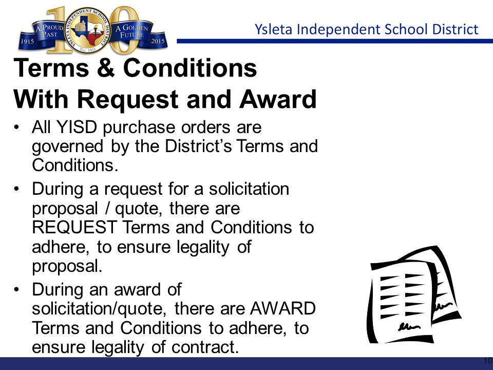 Terms & Conditions With Request and Award