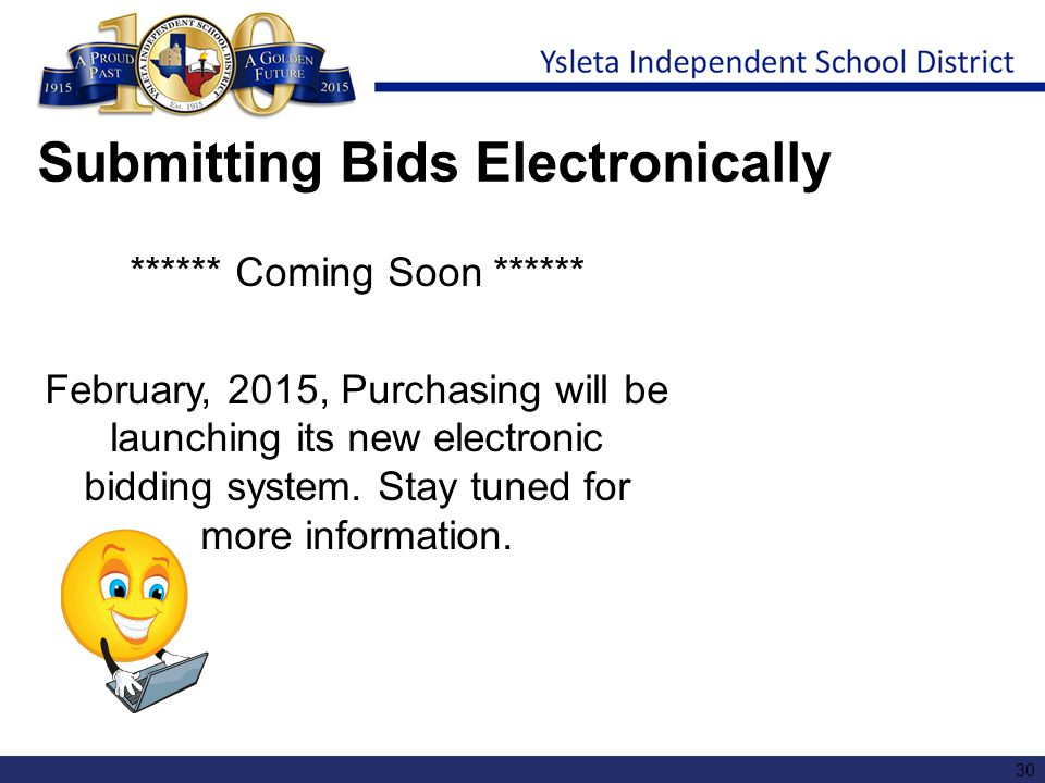 Submitting Bids Electronically