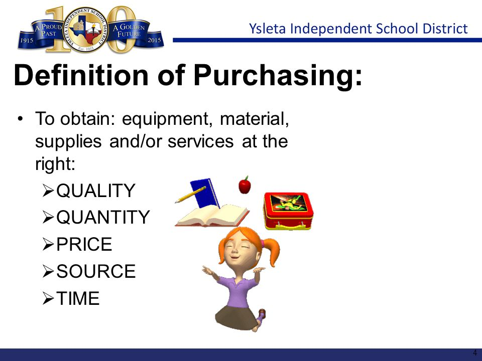 Definition of Purchasing: