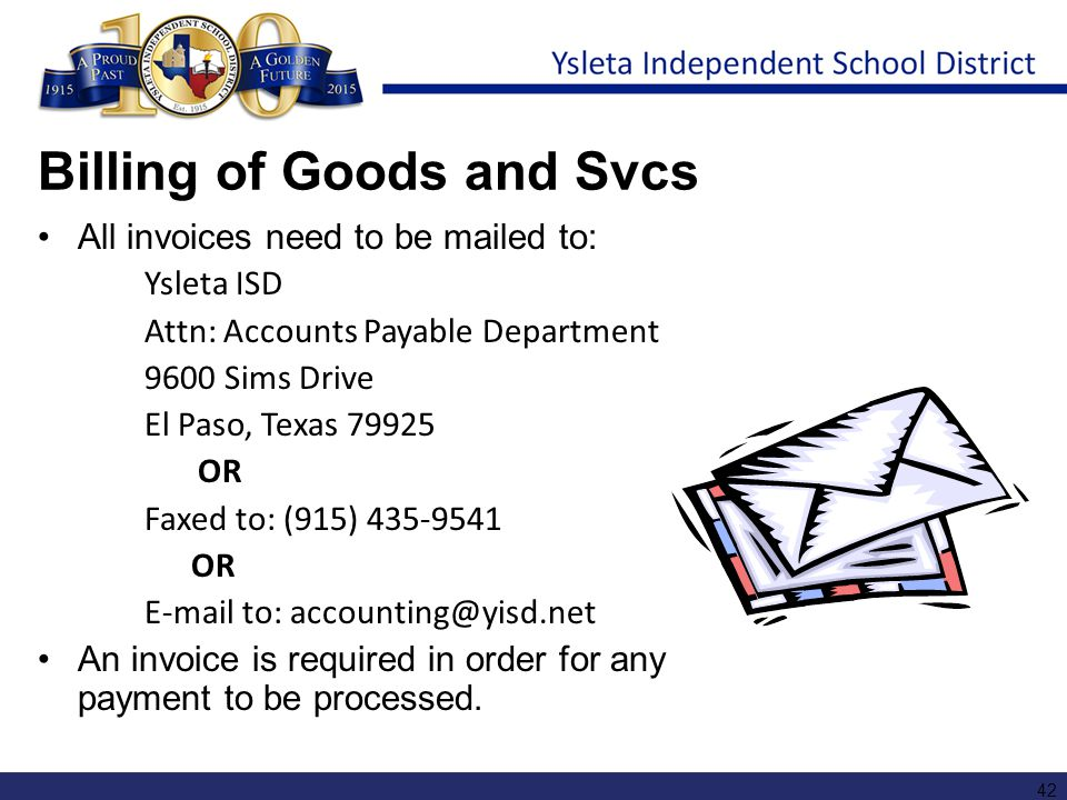 Billing of Goods and Svcs