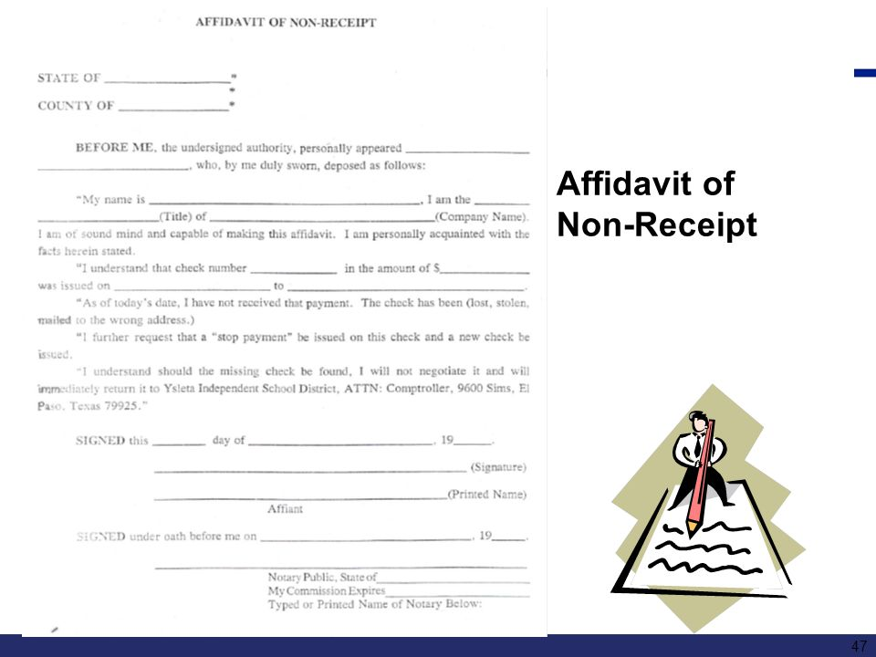 Affidavit of Non-Receipt