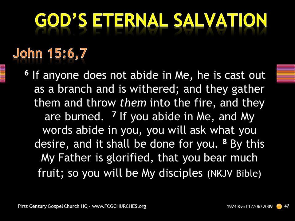 GOD'S ETERNAL SALVATION