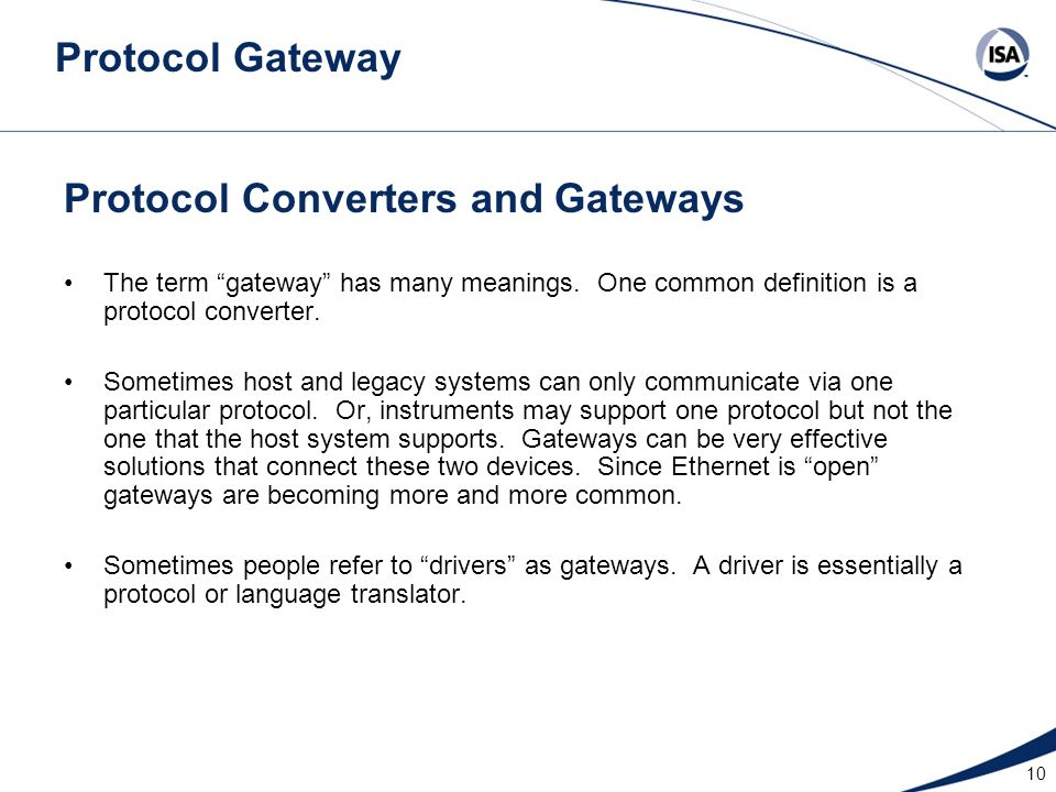 Protocol Converters and Gateways