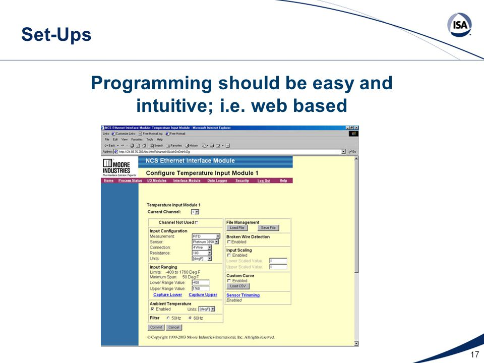 Programming should be easy and intuitive; i.e. web based