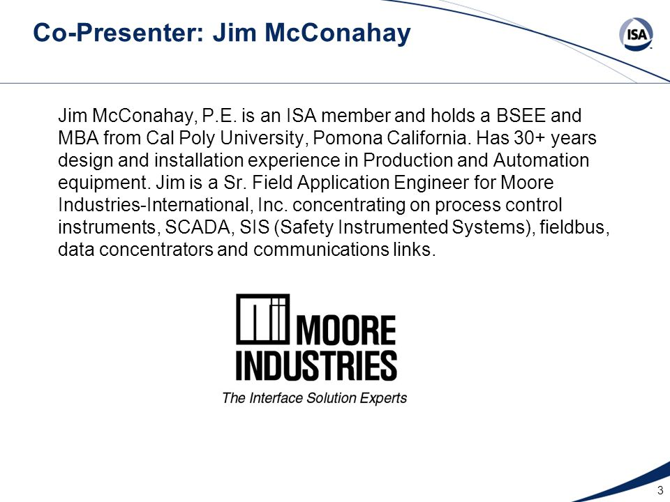 Co-Presenter: Jim McConahay