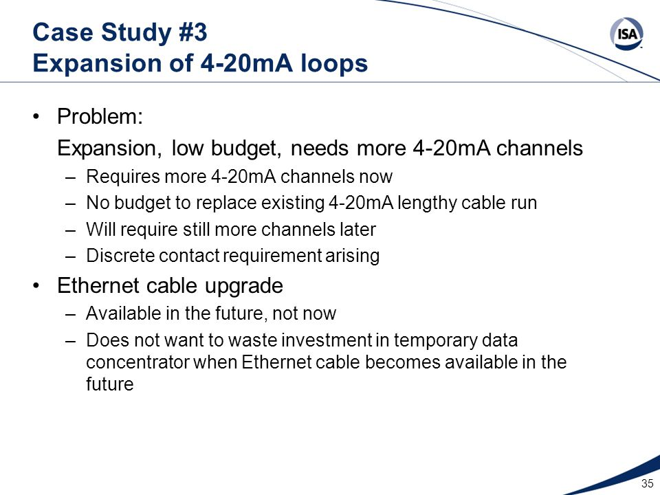 Case Study #3 Expansion of 4-20mA loops