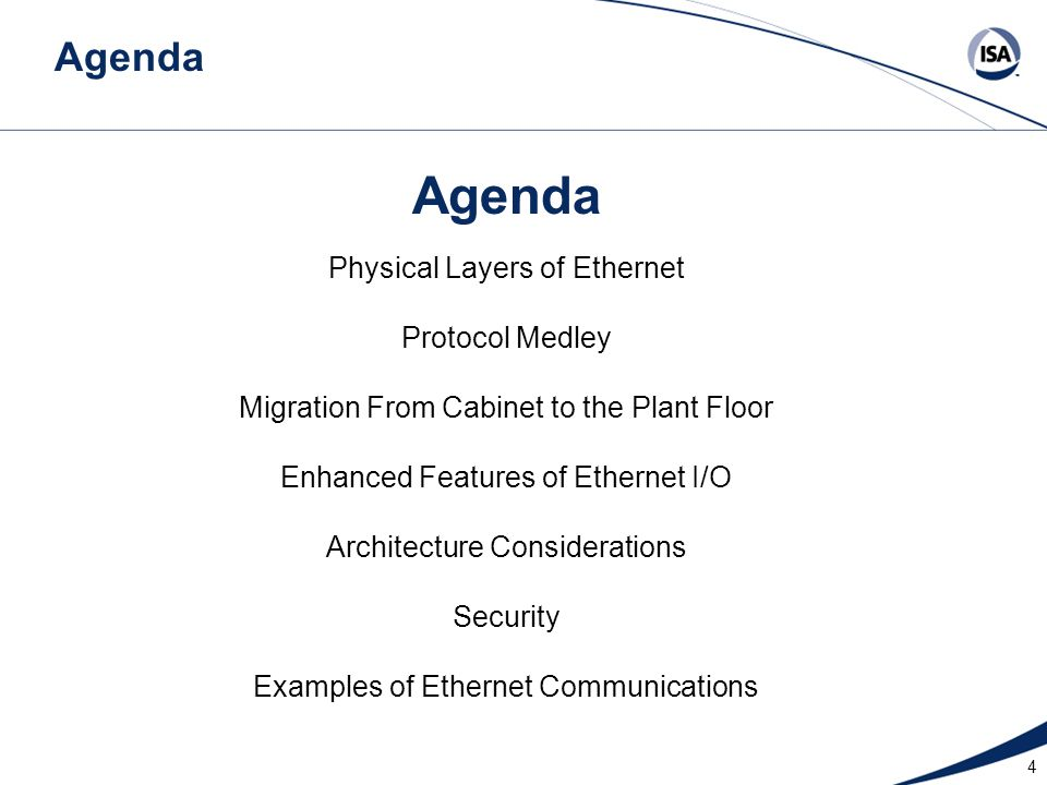 Agenda Agenda Physical Layers of Ethernet Protocol Medley