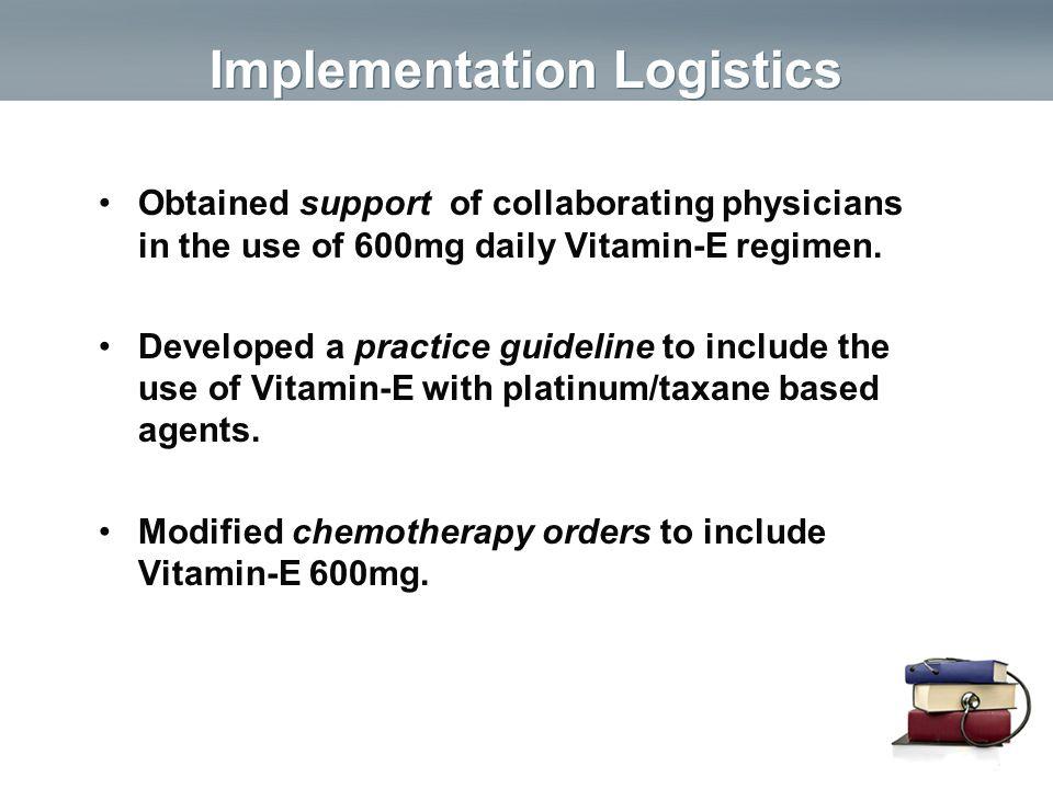Implementation Logistics