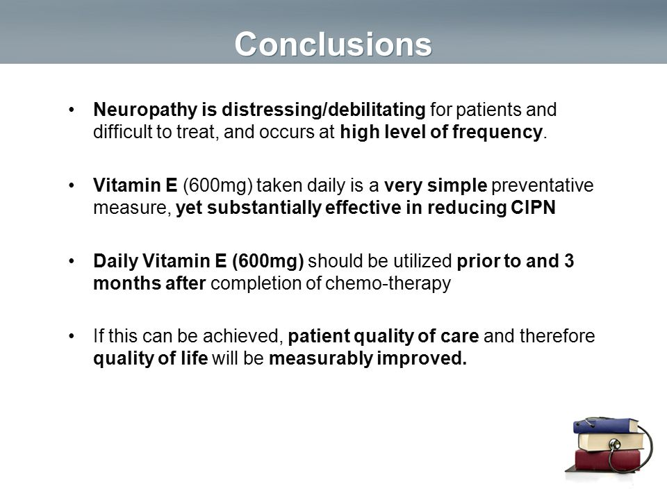 Conclusions Neuropathy is distressing/debilitating for patients and difficult to treat, and occurs at high level of frequency.