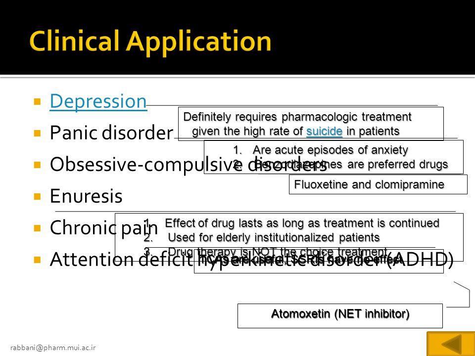 Atomoxetin (NET inhibitor)
