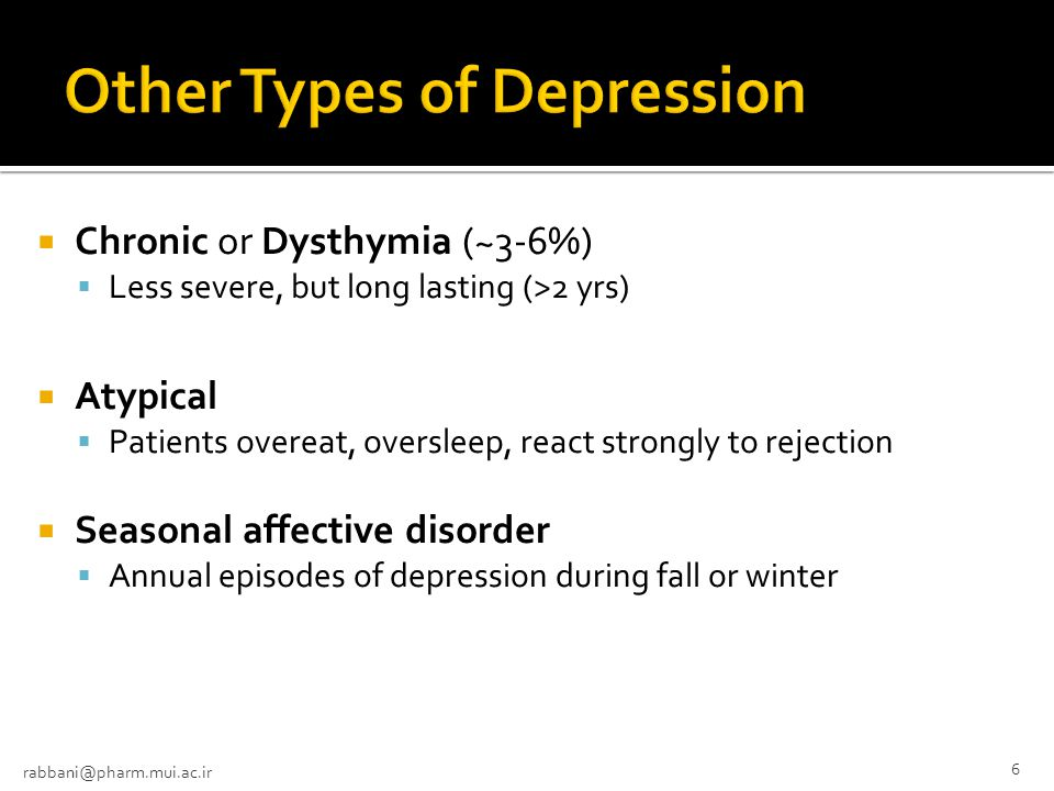 Other Types of Depression