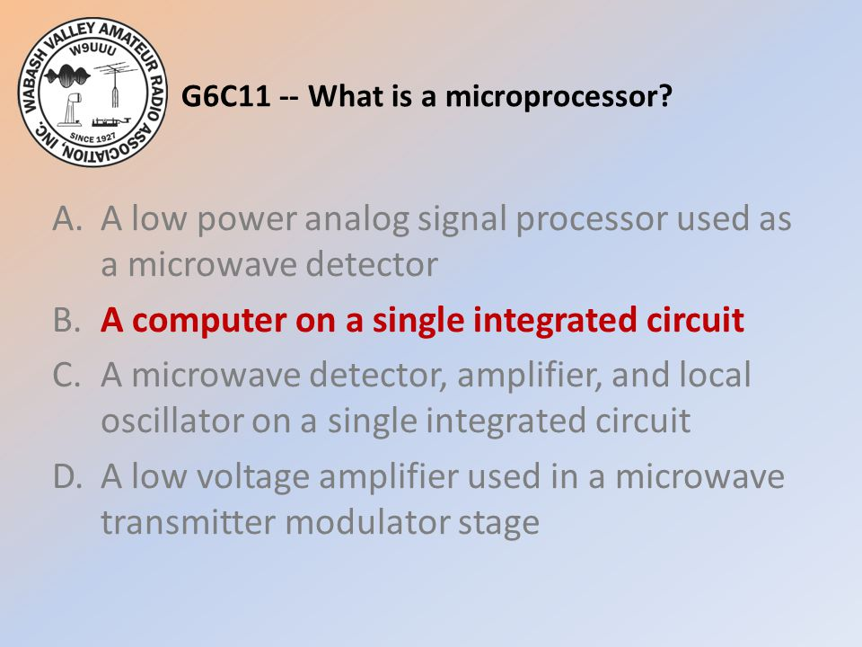 G6C11 -- What is a microprocessor