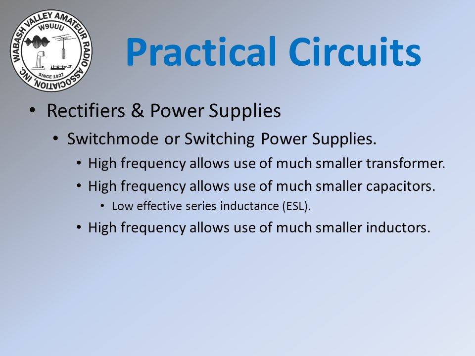 Practical Circuits Rectifiers & Power Supplies