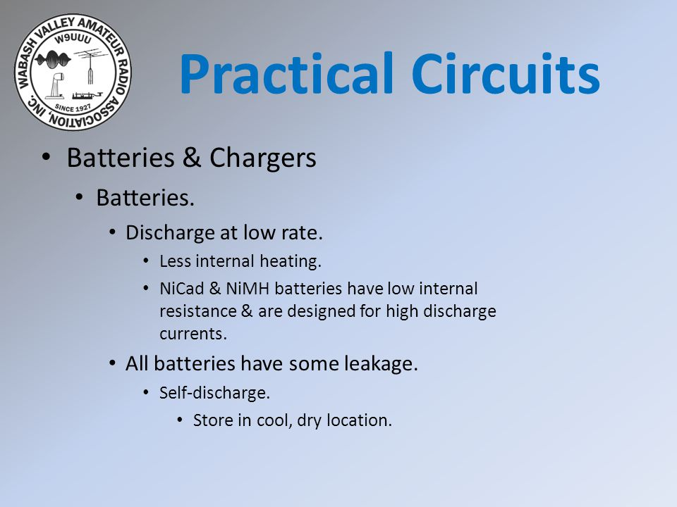 Practical Circuits Batteries & Chargers Batteries.