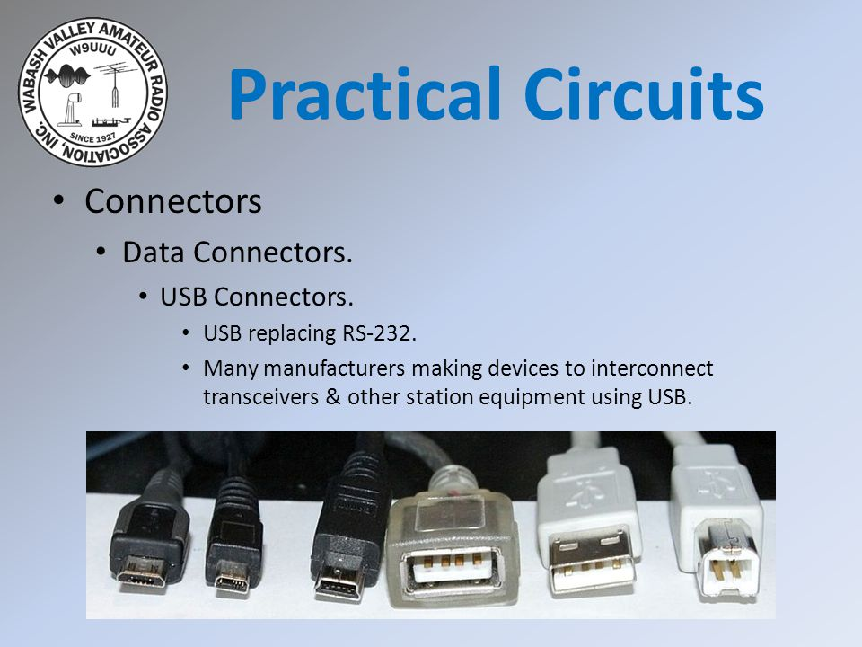 Practical Circuits Connectors Data Connectors. USB Connectors.
