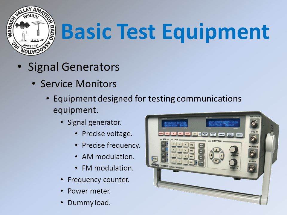 Basic Test Equipment Signal Generators Service Monitors