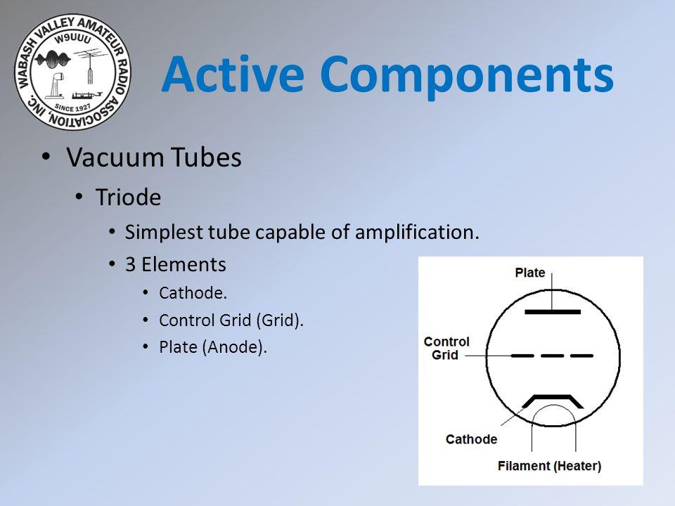 Active Components Vacuum Tubes Triode