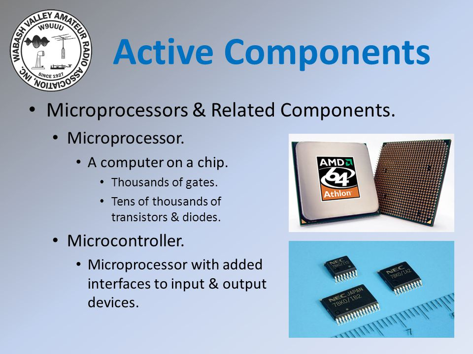 Active Components Microprocessors & Related Components.