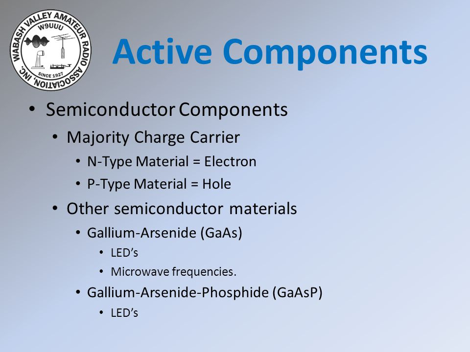 Active Components Semiconductor Components Majority Charge Carrier