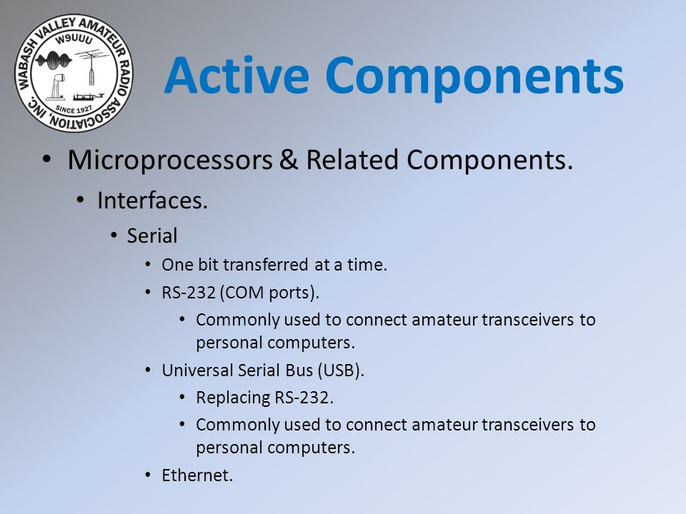 Active Components Microprocessors & Related Components. Interfaces.