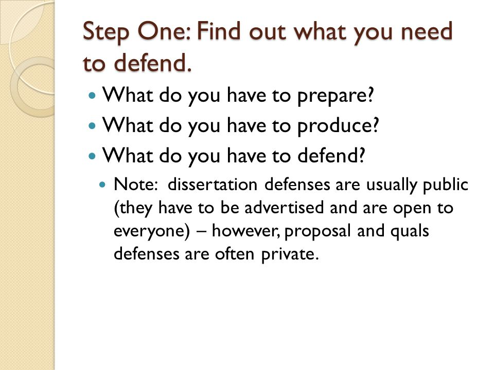 Step One: Find out what you need to defend.