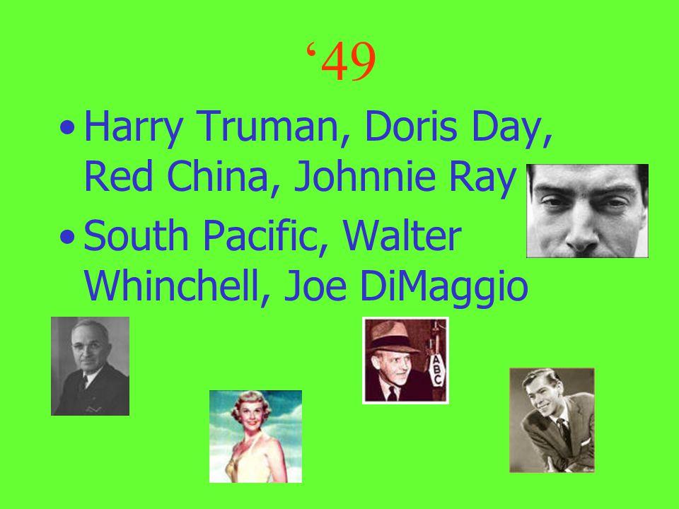 '49 Harry Truman, Doris Day, Red China, Johnnie Ray