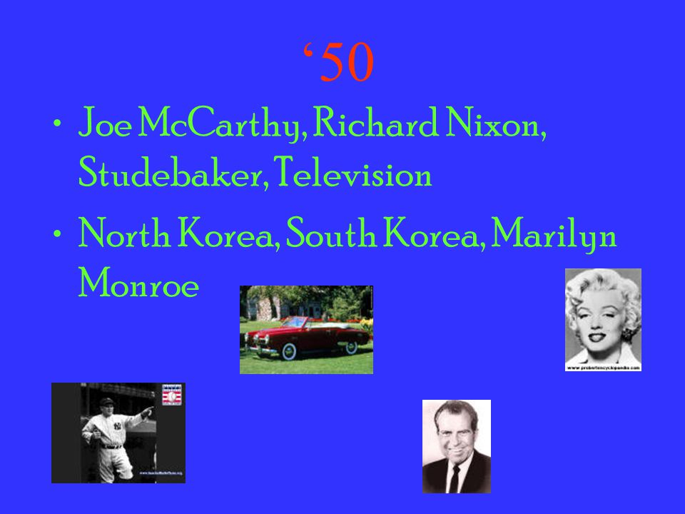 '50 Joe McCarthy, Richard Nixon, Studebaker, Television