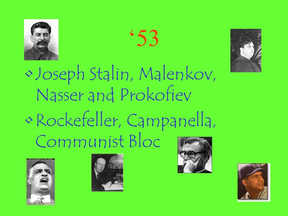 '53 Joseph Stalin, Malenkov, Nasser and Prokofiev
