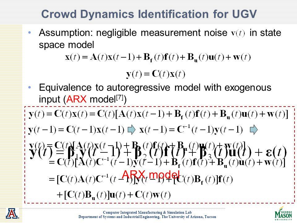 Crowd Dynamics Identification for UGV