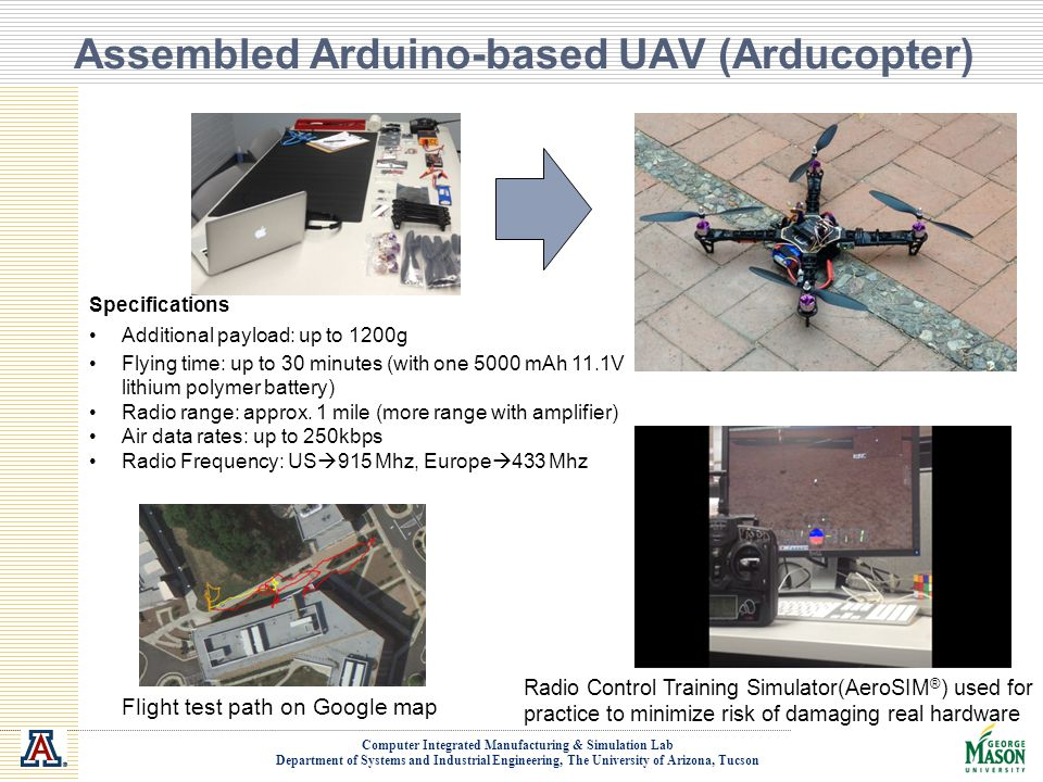 Assembled Arduino-based UAV (Arducopter)
