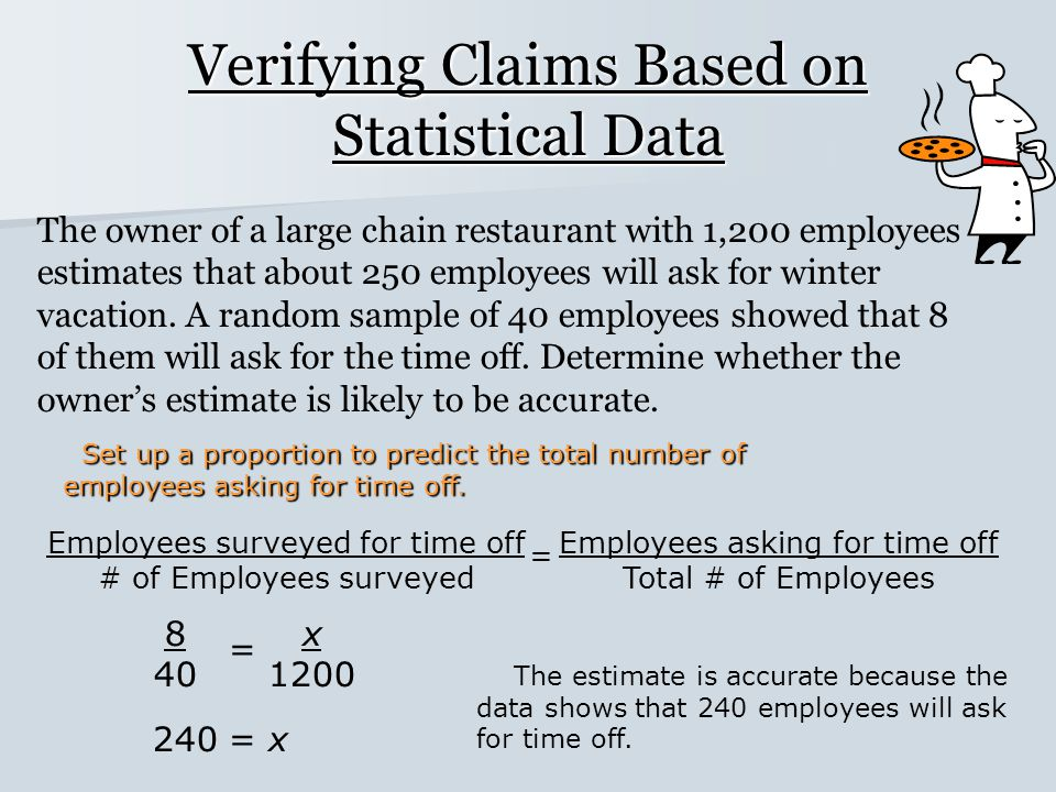 Verifying Claims Based on Statistical Data