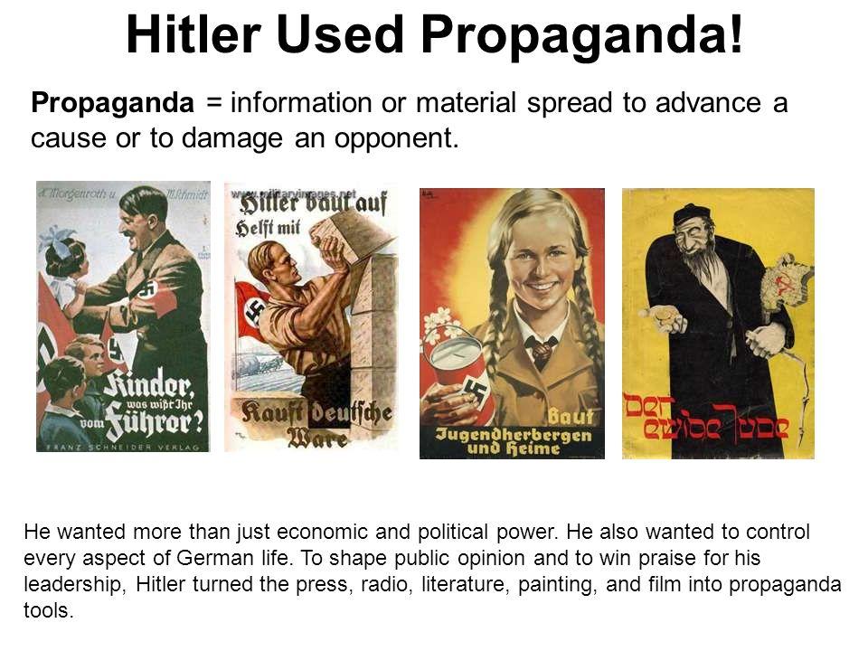 Hitler Used Propaganda!