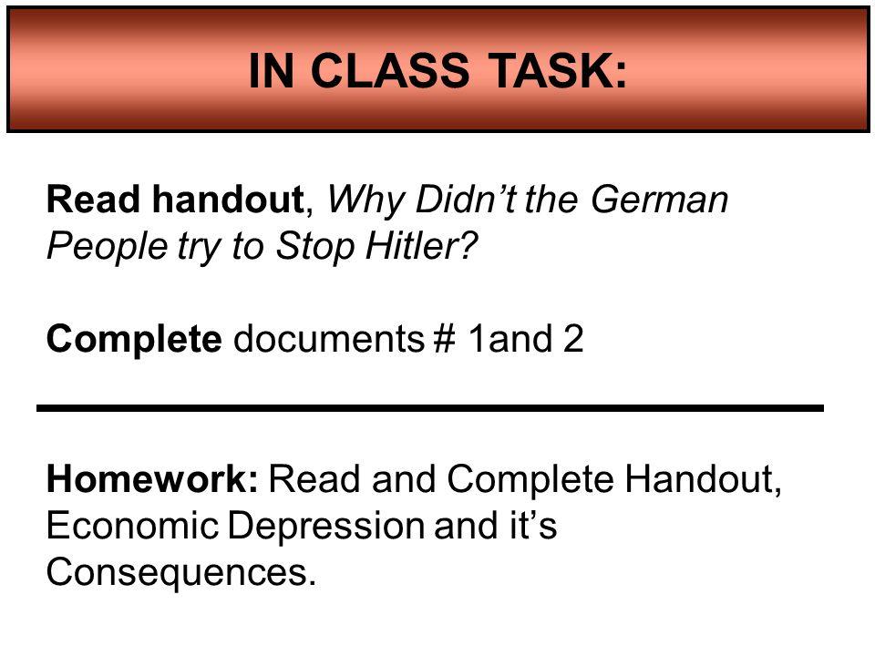 IN CLASS TASK: