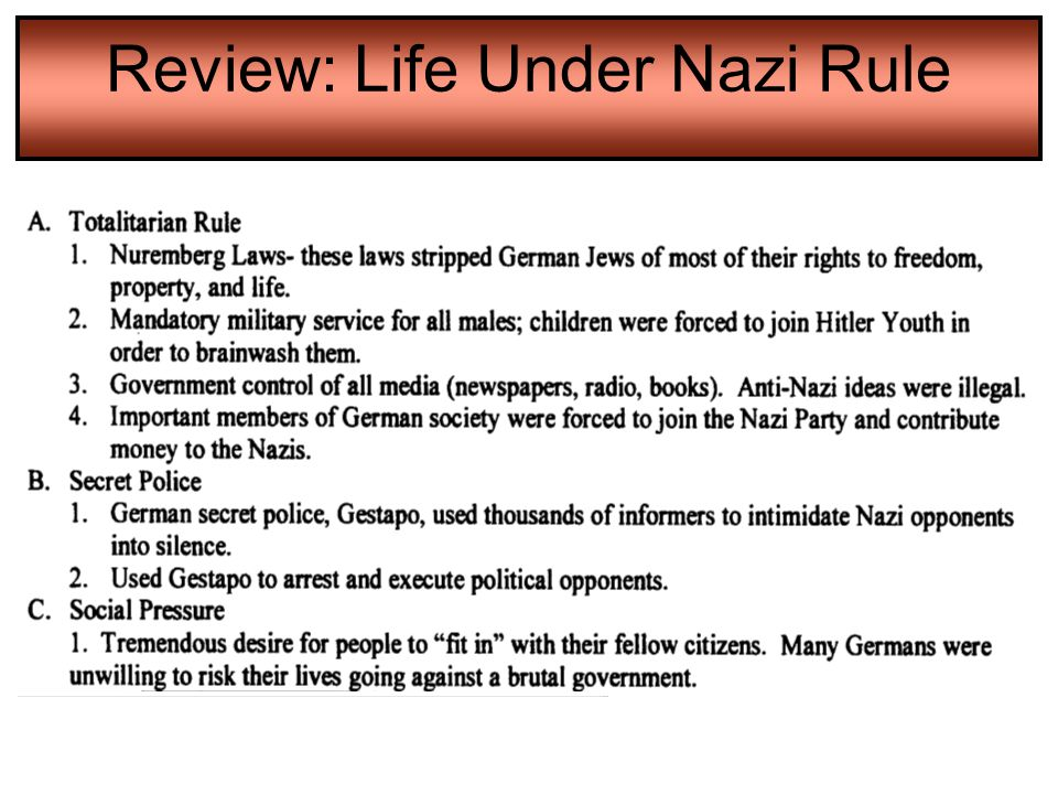 Review: Life Under Nazi Rule