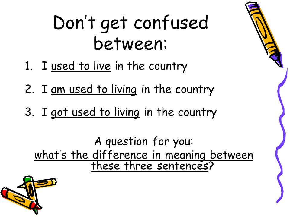 Don't get confused between: