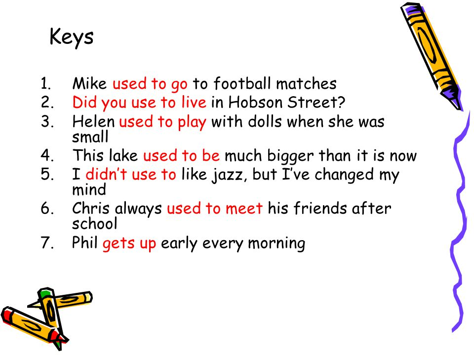 Keys Mike used to go to football matches