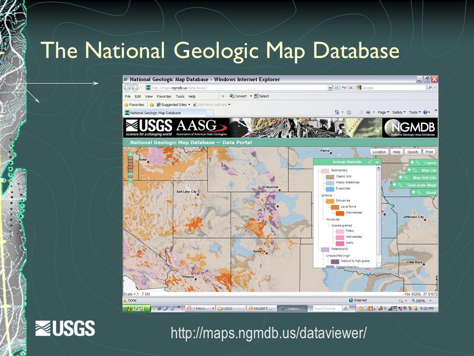 The National Geologic Map Database