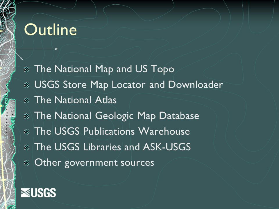 Outline The National Map and US Topo