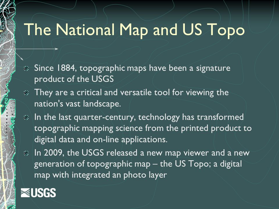 The National Map and US Topo
